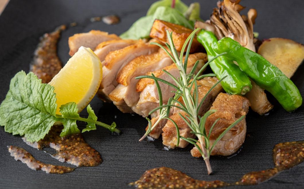 京地鶏のハーブステーキ