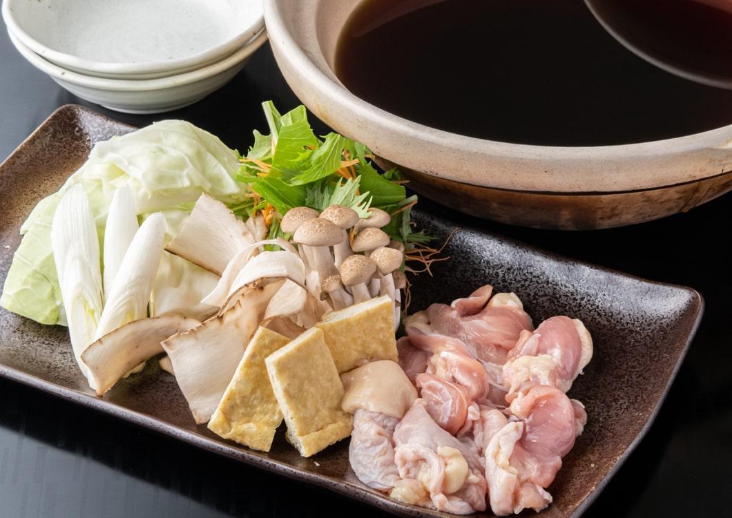 京地鶏鍋 柚子香るポン酢仕立て